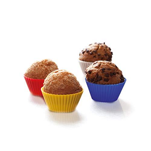 12 Moldes de Silicona para Muffins, moldes de Cocina para Magdalenas, moldes para Hacer Cupcakes, moldes Multicolor para repostería, Uvimark