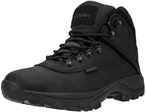 Kitleler Men's Waterproof Hiking Boots Lightweight Outdoor Winter Boots (8808-Black-10 M us)