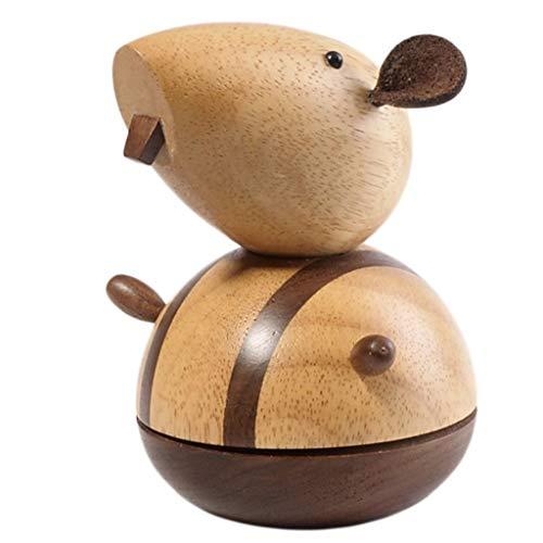 jixi Music Box Zodiac Ornaments Music Boxes, Animal Music Box, Solid Wood Music Box, Decorative Musical Box, Christmas Birthday Gift Music Box Musical Box (Color : Rat, Size : Spirited Away)