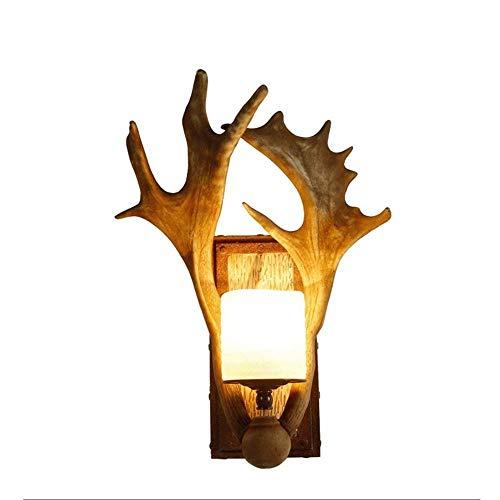 Illuminazione per Interni Lampade da Parete Lampada da parete semplice parete Lampada da parete creativa di personalità Deer Head Antler lampada da parete Retro Aspetto stereo di stile for Camera da l