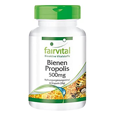 Bee Propolis Extract 500mg - 60 Capsules - standardised to 3% galangin - Natural Propolis