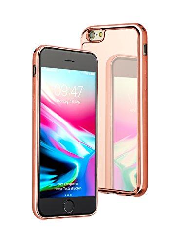 JMi - Carcasa con espejo para Apple iPhone 6 Plus, color oro rosa
