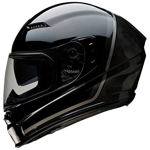 Z1R Casco de Moto Integral Homologado con Pantalla Transparente y Visera Parasol Desplegable | Ventilación | Negro y Gris Brillante | Policarbonato | Hombre o Mujer (Large)