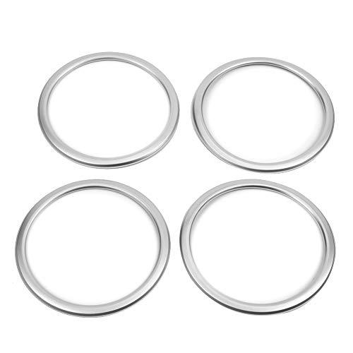 KIMISS 4 STÜCKE Auto Lautsprecher Ring Trim Abdeckung, ABS Türlautsprecher Ringabdeckung Chrom für X1 F48 2016-2018/2 serie f45 f46