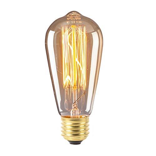 Lampadine Decorative Edison St64 Al Tungsteno 40W E27 220V Decorazione A Vite Retro Retro A Risparmio Energetico Luce Gialla Fonte Di Vento Industriale 1 Pz Filo Dritto