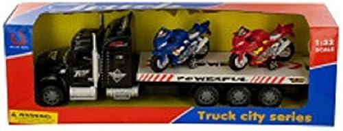 Kole Friction-Powerot Semi-Truck with Motorcycles Set by Kole