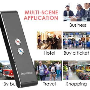 Vapeart Smart Instant Language Translator Device Portable Foreign Language Real-Time 2-Way Translations [Support Up to 44 Languages/Voice Operated] Compatible iPhone Android Smartphone (Black) Photo #3