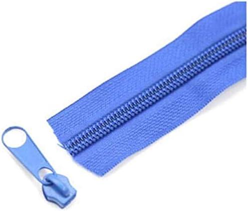 UIZSDIUZ Zipper 5Meters 5# Nylon Coil Zippers for DIY Sewing Bag