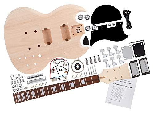 Rocktile DIY Double Cut Bausatz E-Gitarre -