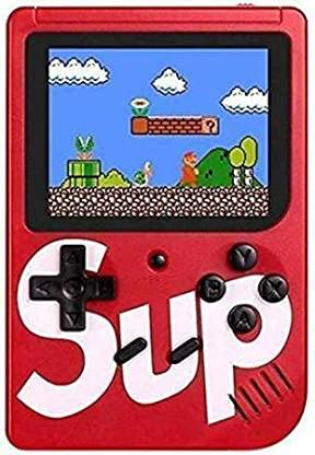 Aronet SUP Handheld Game console, Classic Retro Video Gaming Player Colorful LCD Screen USB Rechargeable Portable Game Console with 400 in 1 Classic Best Birthday Gift for Kids Boys Girls- (Color as per stock)