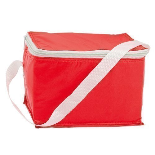 eBuyGB Lunch BBQ Camping Can Cooler Picknick Bag Doos, Polyester, Rood