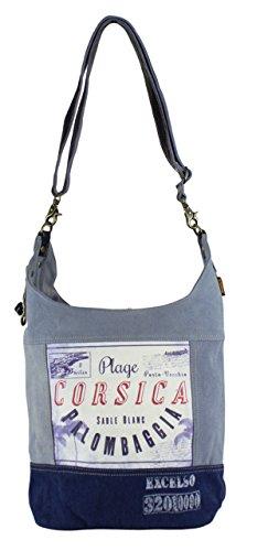 Sunsa Canvas Umhängetasche große Damen Hobotasche Schultertasche Crossbody Tasche blaue Damentasche Hobotasche Henkeltasche Reisetasche Herrentasche Vintage Handtasche Studententasche Unisextasche