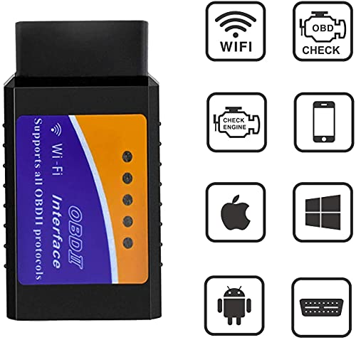 CARXtruck WiFi OBD2 Scanner Check Engine Light Fault Code Reader OBDII Wireless Diagnostic Scan Tool OBD II Interface for Android iOS and Windows