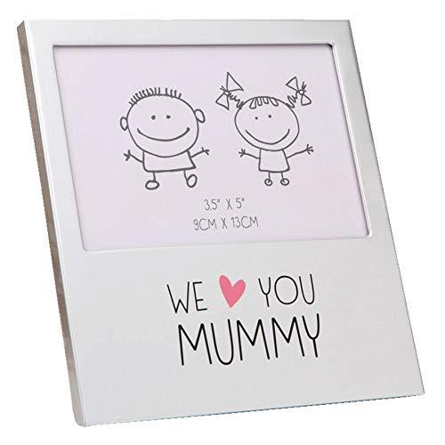 Widdop Marco de Fotos de Aluminio con Texto en inglés «We Love You Mummy»