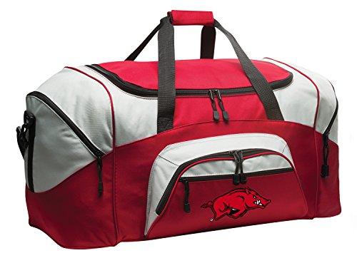 Deluxe University of Arkansas Suitcase Duffel Bag or Large Arkansas Razorbacks Gym Bag Gear Duffle