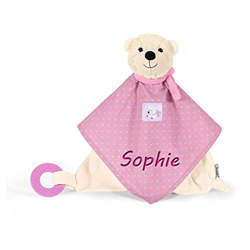 Sterntaler Schmusetuch mit Namen bestickt Greifring Baby Ella Geschenk zur Geburt Schnueffeltuch