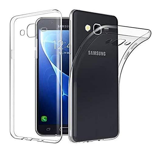 NewTop Cover Compatibile per Samsung Galaxy J5/2016/2017, Custodia Morbido TPU Clear Silicone Trasparente Slim Case Posteriore (per J5)