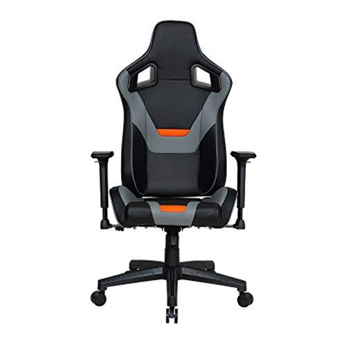 Silla de juego para ordenador de casa, ergonómica, para juegos pesados, grande y alto, estilo de carreras, silla de oficina, color amarillo