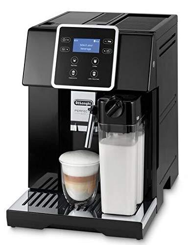 De'LonghI Perfecta EVO ESAM420.40.B - Cafetera Superautomática (19 bares, Sistema Cappuccino Automático, multiples recetas pre-definidas, limpieza automática)
