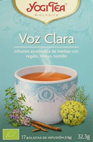 Yogi Tea Voz Calara Infusión ayurvédica, 17 bolsitas de infusión