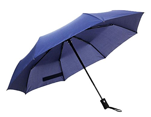 Bleu Automatique Parapluie pluie pliante