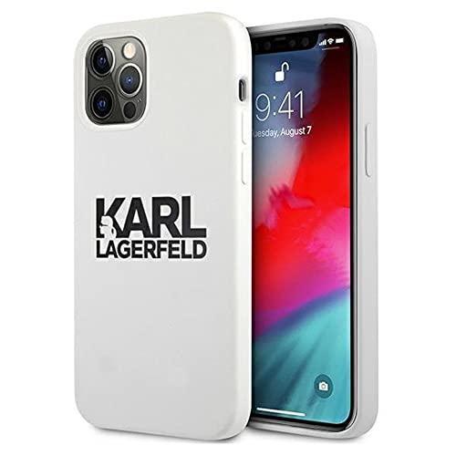 Karl Lagerfeld KLHCP12LSLKLWH skal för iPhone 12 Pro Max 6,7 Silicone Stack logotyp vit