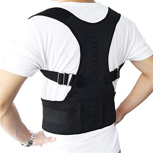 ZYFWBDZ Órtesis de Postura Masculina Femenina Soporte de Postura Órtesis de Espalda Ajustable para Mejorar la Postura y Proporcionar Soporte de Hombro Lumbar,Negro,S