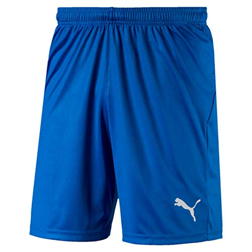 PUMA Herren LIGA Shorts Core, Electric Blue Lemonade-White, M