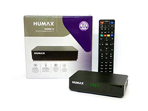 Humax 9-00142 - Decoder digitale terrestre DVB-T2 HD-2022T2 Digimax T2 con telecomando 2 in 1 per controllare il TV