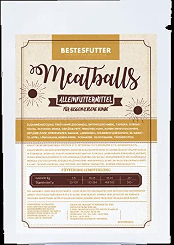 Bestes Futter I Meatballs I halbfeuchtes Hundefutter I 500g