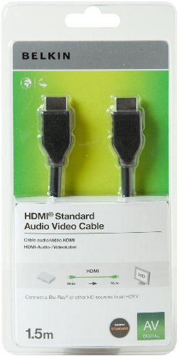 Belkin F3Y017CP1.5MBLK - Cable HDMI (1.5 metros), negro