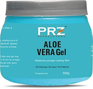 PRZ 100% Pure Natural ALOE VERA GEL Transparent (500Gram) For Body & Face Moisturizing, Hair Gel, Multipurpose Beauty Skin...
