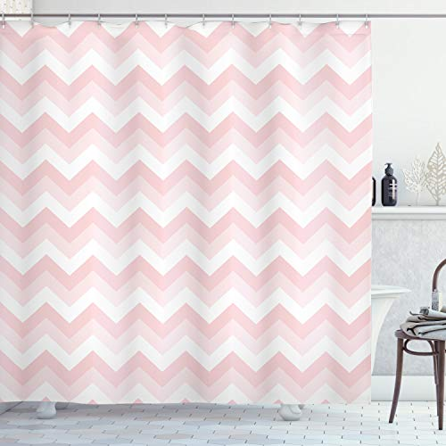 Ambesonne Chevron Shower Curtain