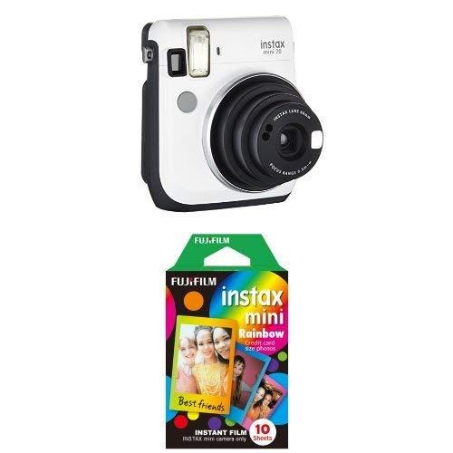 Fujifilm Instax Mini 70 Kamera inkl. Batterien und Trageschlaufe, Sofortbild weiß