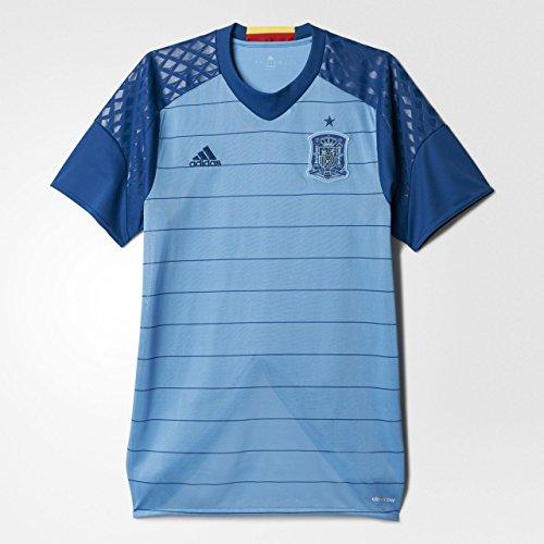 adidas Herren Torwart/Heim-Trikot UEFA Euro 2016 Spanien Replica Kurzarm heimtrikot, Light Blue/Dark Marine, 2XL