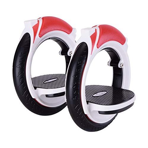 Youpin Patines autopropulsados para adultos con doble rueda (color: rojo)