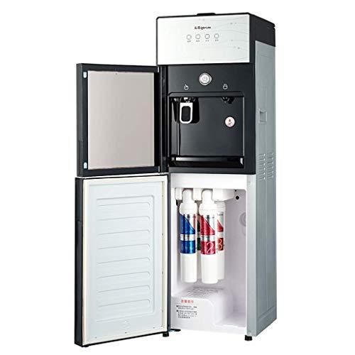 Relaxbx Sofortiger Heißwasserspender mit Filter, freistehender Heiß- und Warmwasserspender mit Wasserfiltersystem, oberem Wassertank und Tür aus gehärtetem Glas