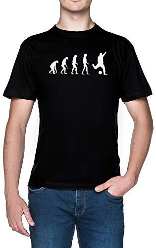 Evolucionado A Tocar Fútbol Negro Hombre Camiseta Tamaño M Black Men