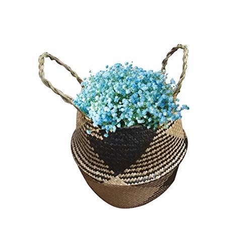 Blumentopf, Seagrass Belly Baskets, Für Wäscherei, Picknick, Strandtasche, Blumentöpfe Für Innenräume, Handgefertigt, 18 * 22 * 20 cm