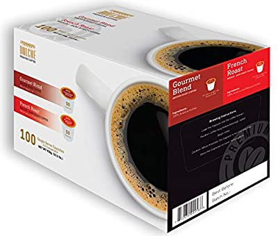 Dolche Coffee 100 Count Variety Pack K Cups (2 Flavor Variety)