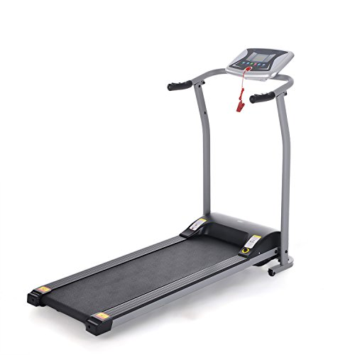 Flyerstoy Folding Electric Treadmill Exercise Equipment Walking Running Machine with 'Pacer Control' & Heart Rate System (Black-1.5HP) Treadmills