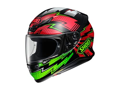 Helm Shoei NXR Variable TC-4 schwarz rot grün, L