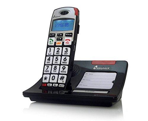 Teléfono inalámbrico fácil teclas números grandes mayores: Amazon.es: Electrónica