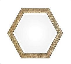 Uttermost Wall Mirror, Hexagon Shape - Gold