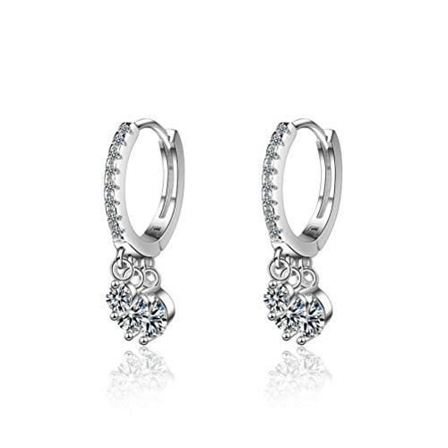 Rapidly Damen Ohrringe Ohrstecker aus 925 Sterling Silber Ohrhaken mit Schmetterling mit 3A 6mm Zirkonia Durchmesser: 1,5 cm