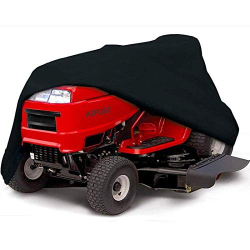 Aifusi Lawn Mower Cover - Heavy Duty Waterproof Fits Decks up to 54'', Large Premium Riding Lawn Tractor Cover UV Resistant Protection, Universal Size