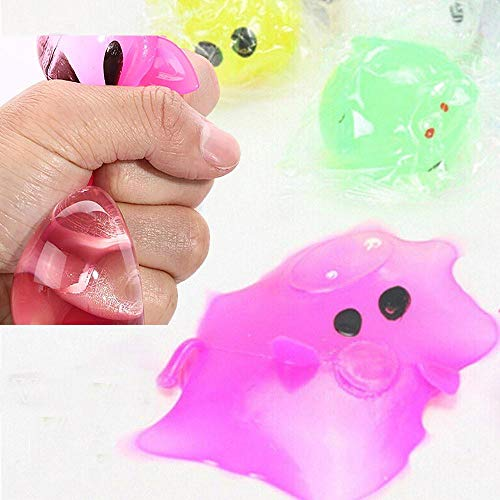 1pc Anti-Stress Dekompression Splat Ball Entlüftung Toy Ball Sticky Verschiedene Arten Schwein Spielzeug Entlüftung Wasserball Schwein 2020 Spielzeug, Zufällig