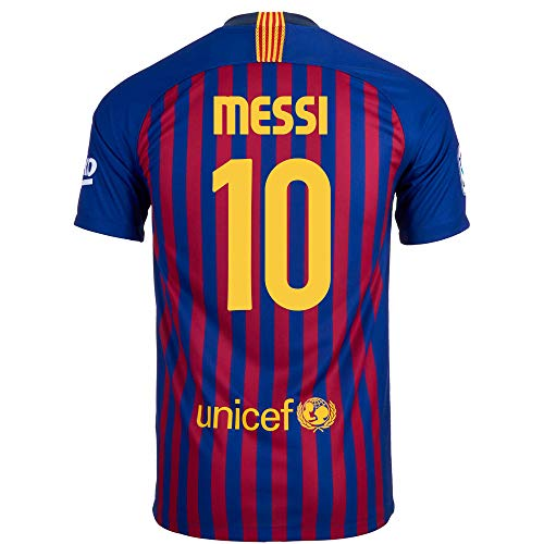 Nike Messi #10 FC Barcelona Home Youth Soccer Jersey 2018-19 (XL) Blue, Red