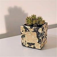 Maceta Panots acabado metal dorado, Barcelona, florero, portalápices, regalo bodas, regalo navidad, regalo evento,...