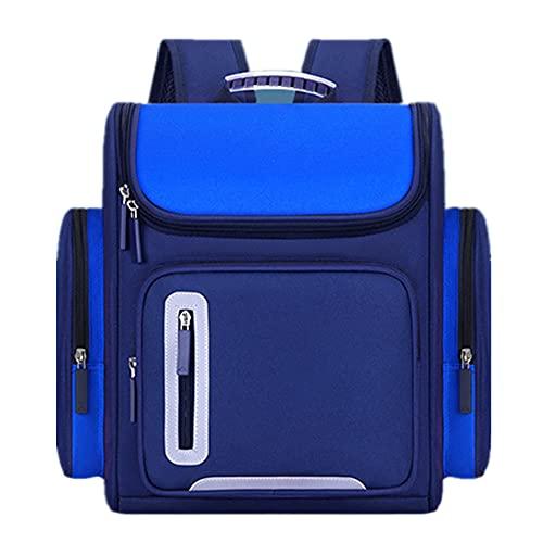 YIXIN 5 – 16 anni, borsa da scuola confortevole in nylon multi-tasca per studenti traspirante e leggero, adatto per ragazzi, Blu, Taglia unica,